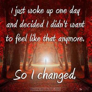so i changed